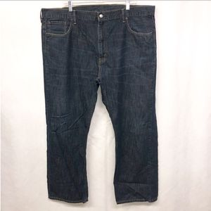 Levi 569 Loose Straight Blue Dark Wash Jeans 44 30